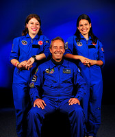 French Astronaut Clervoy and Space Camp Turkey Counselors (2)